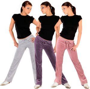 Spodnie welurowe damskie