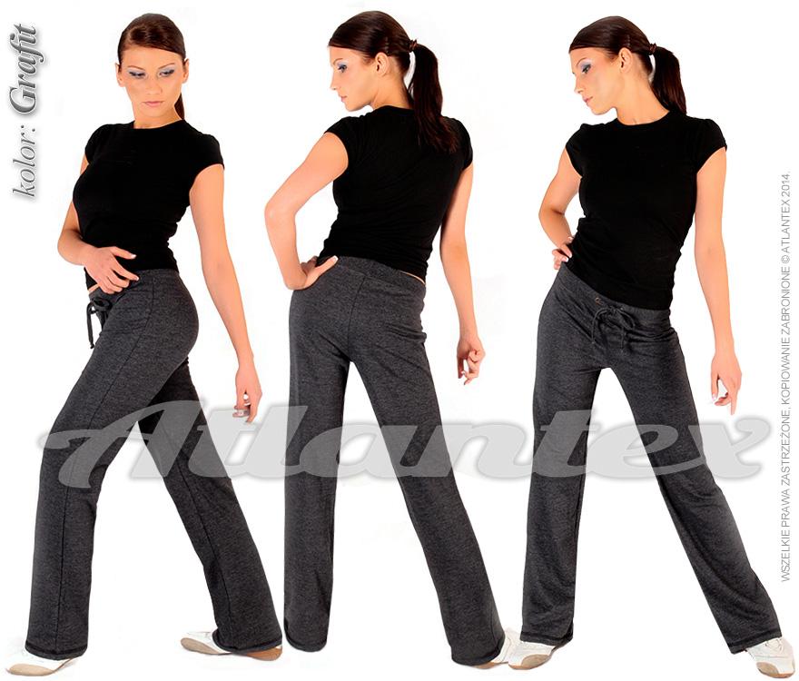Spodnie-dresowe-damskie-grafit