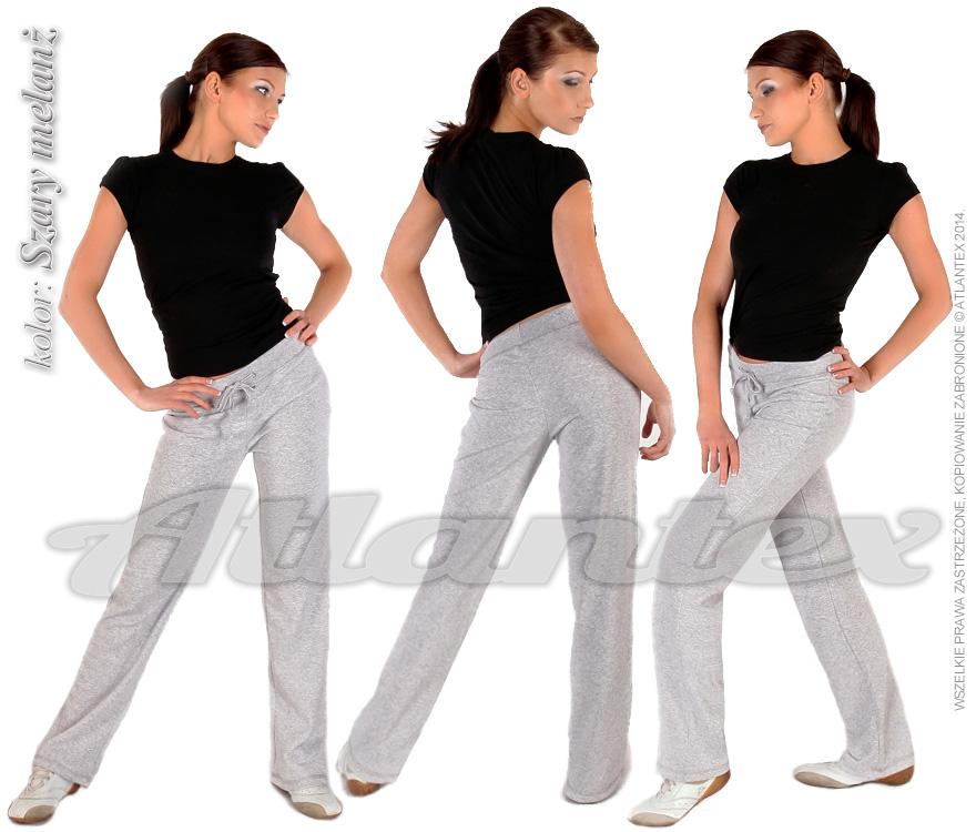Spodnie-dresowe-damskie-szary-melanż