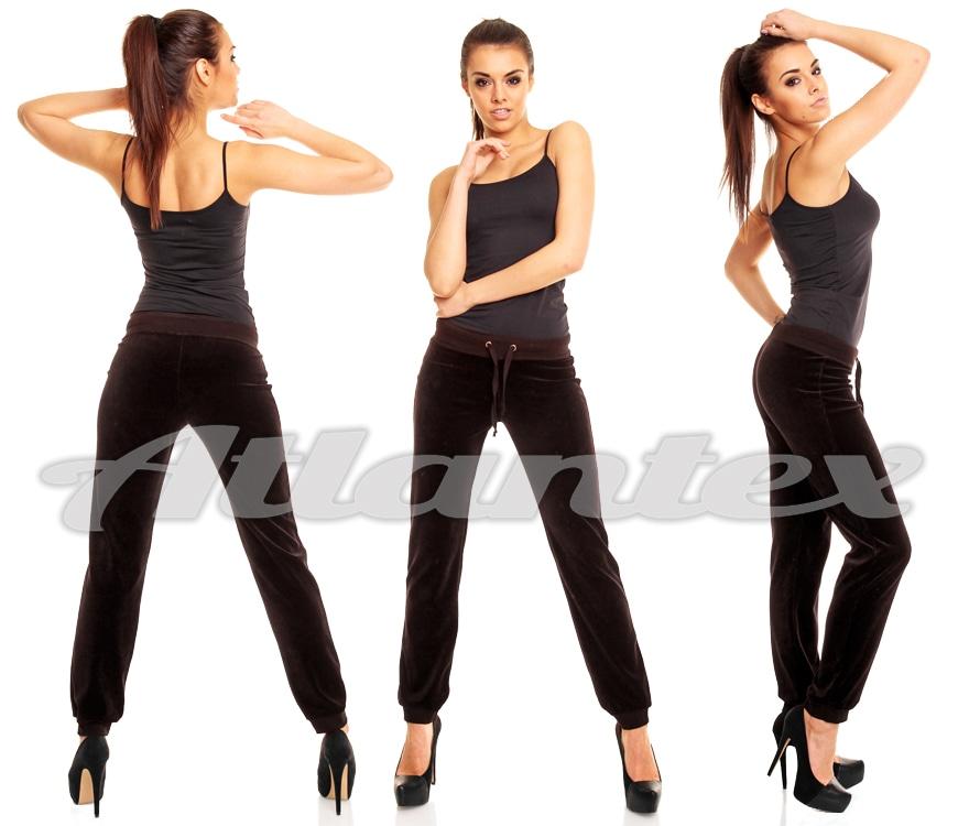 Spodnie dresowe damskie z weluru