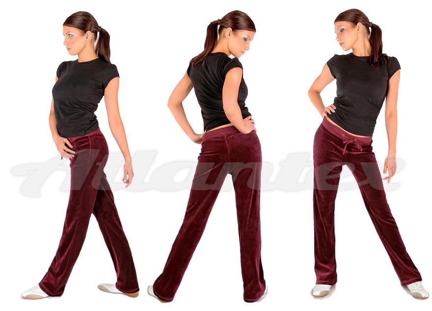 spodnie-dresowe-damskie-bordowe