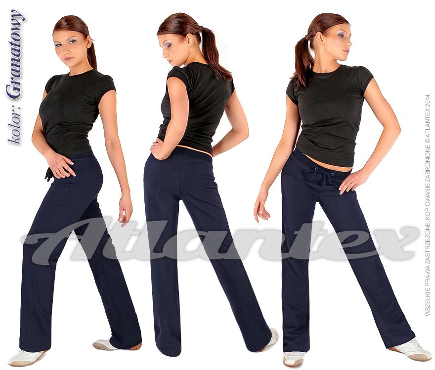 Spodnie dresowe damskie granatowe